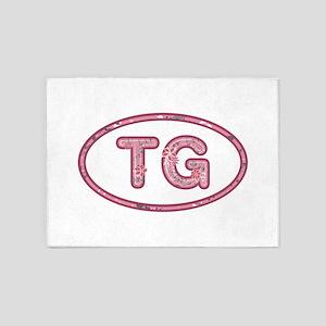 TG Pink 5'x7'Area Rug