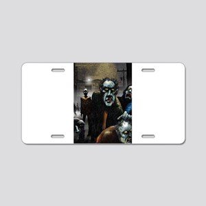 Zombie Party Aluminum License Plate
