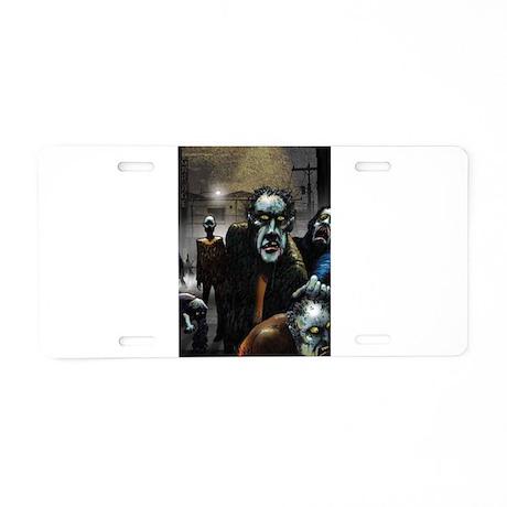 Zombie Party Aluminum License Plate
