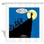 Mission from God Shower Curtain