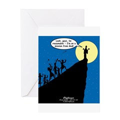 Mission from God Greeting Card