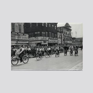 Coney Island Bicyclist 1826632 Rectangle Magnet