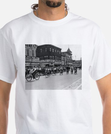 Coney Island Bicyclist 1826632 White T-Shirt