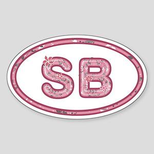 SB Pink Sticker (Oval)