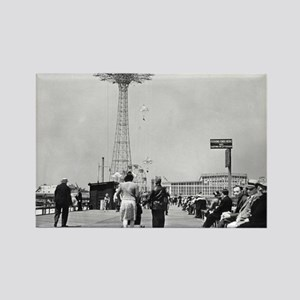 Coney Island Parachute Jump 1826579 Rectangle Magn