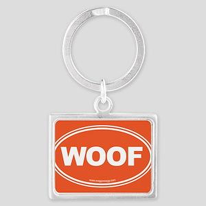 WOOF! Landscape Keychain