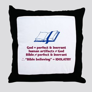 Bible Not Inerrant Throw Pillow