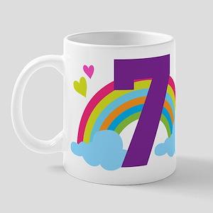 7th Birthday Rainbow Mug