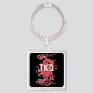TKD Dragon Square Keychain