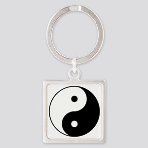 Yin Yang Square Keychain