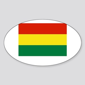 Bolivia Flag Picture Oval Sticker
