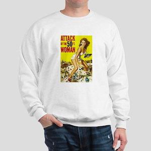 Vintage Attack Woman Comic Sweatshirt