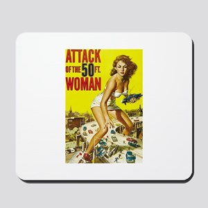 Vintage Attack Woman Comic Mousepad