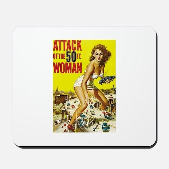 Vintage Attack Woman Comic Mousepad