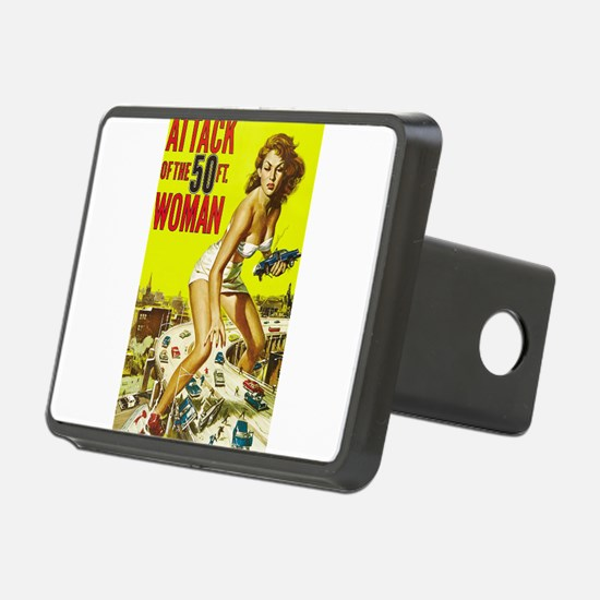 Vintage Attack Woman Comic Hitch Cover