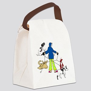 Walking dogs Canvas Lunch Bag