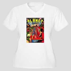 Alien Invaders Women's Plus Size V-Neck T-Shirt