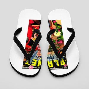 Alien Invaders Flip Flops