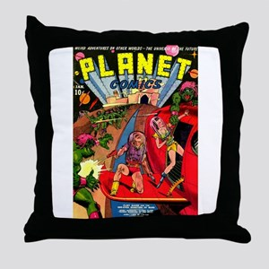 Alien Invaders Throw Pillow