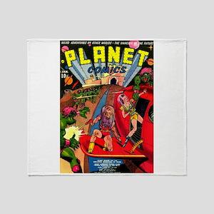 Alien Invaders Throw Blanket