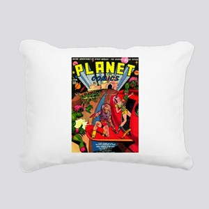 Alien Invaders Rectangular Canvas Pillow