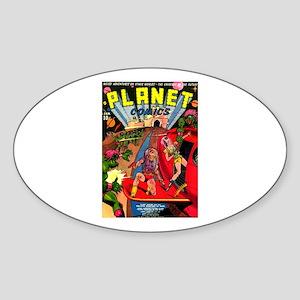 Alien Invaders Sticker (Oval)