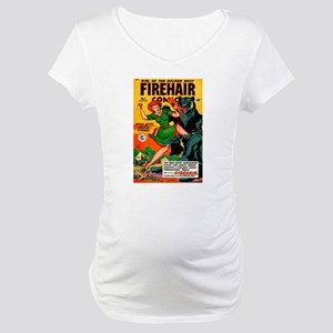 Redhead Warrior Woman Maternity T-Shirt