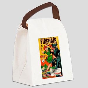 Redhead Warrior Woman Canvas Lunch Bag
