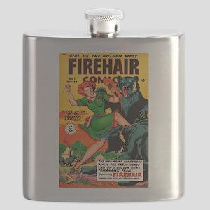 Redhead Warrior Woman Flask