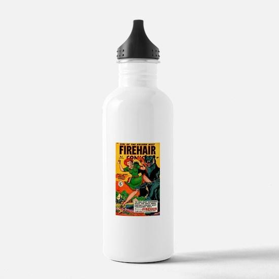 Redhead Warrior Woman Water Bottle