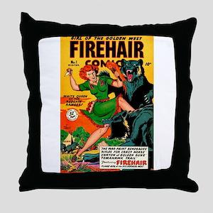 Redhead Warrior Woman Throw Pillow