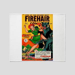 Redhead Warrior Woman Throw Blanket