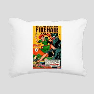 Redhead Warrior Woman Rectangular Canvas Pillow