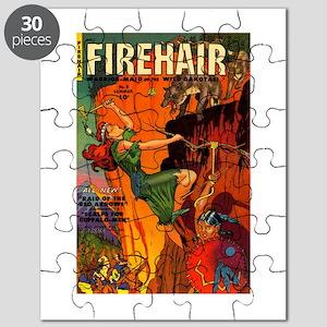 Redhead Warrior Woman Puzzle