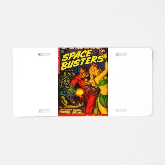 Retro Space Adventure Aluminum License Plate