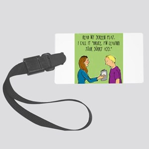 How_to_leave_a_cheater Large Luggage Tag