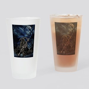 GRIM REAPER AT NIGHT Drinking Glass