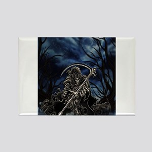 GRIM REAPER AT NIGHT Rectangle Magnet