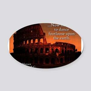 Now The Time - Horace Oval Car Magnet