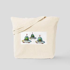 THREE ALIENS Tote Bag