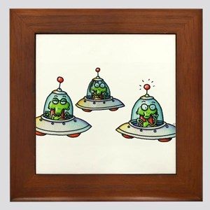 THREE ALIENS Framed Tile