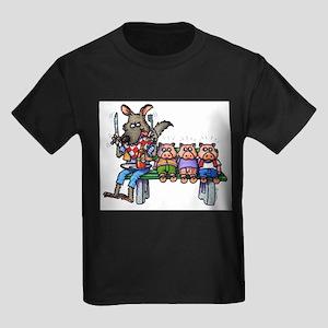 THREE LITTLE PIGS Kids Dark T-Shirt