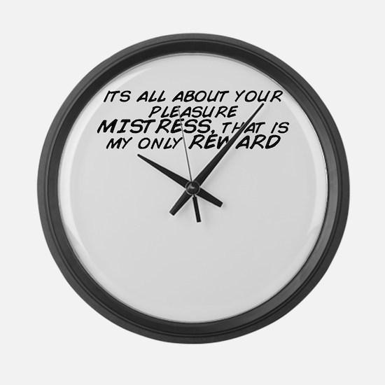 Unique Mistress Large Wall Clock