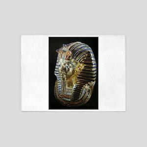 Tutankhamon's Golden Mask 5'x7'Area Rug