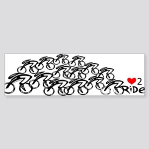 Peloton love2ride Bumper Sticker