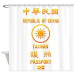 Taiwan Passport Shower Curtain