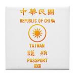 Taiwan Passport Tile Coaster