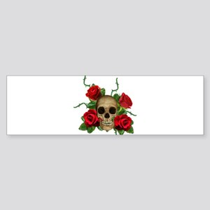 Skull Rose bed Sticker (Bumper)