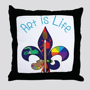 Art Is Life Throw Pillow