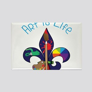 Art Is Life Rectangle Magnet